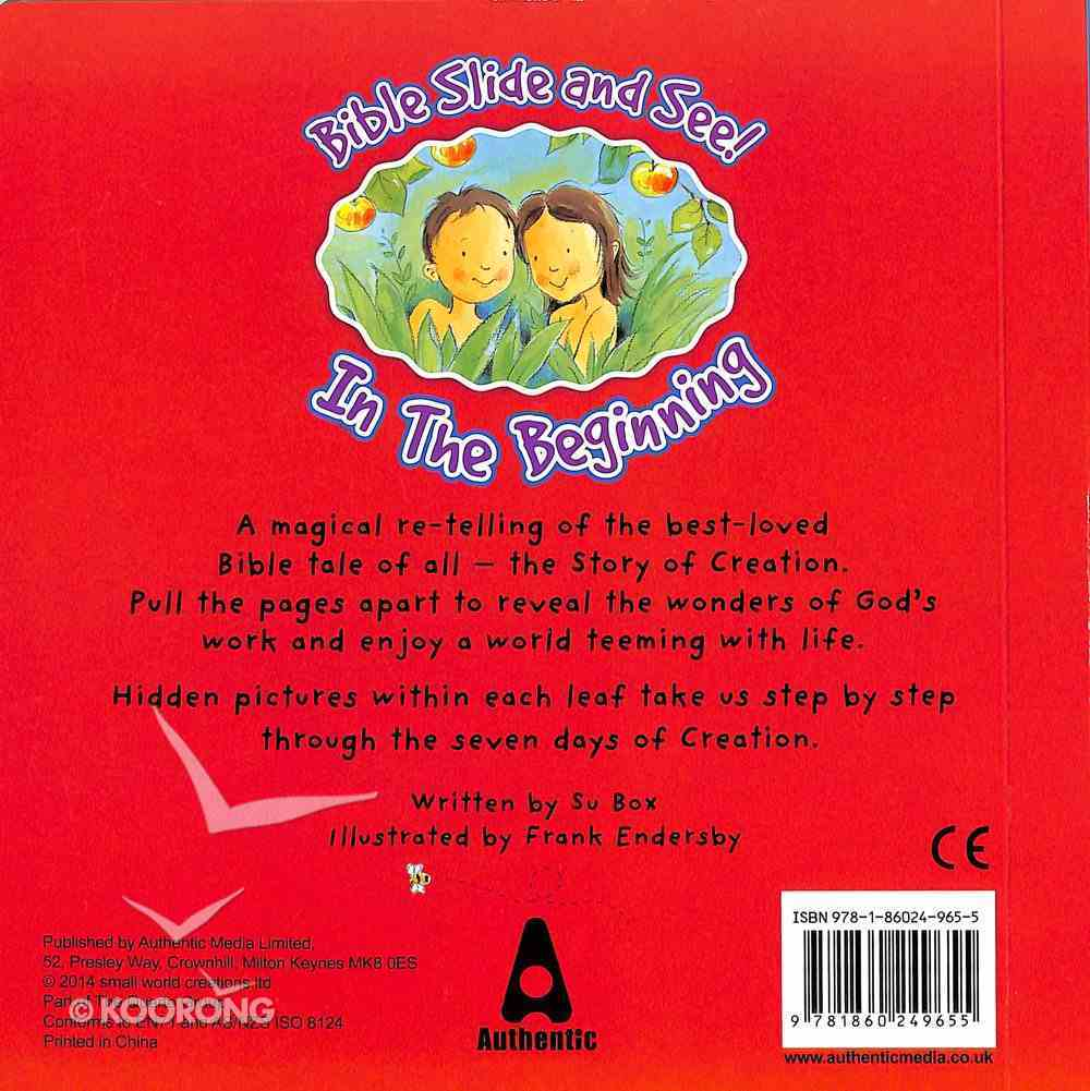 Slide and See: God's World in the Beginning Board Book