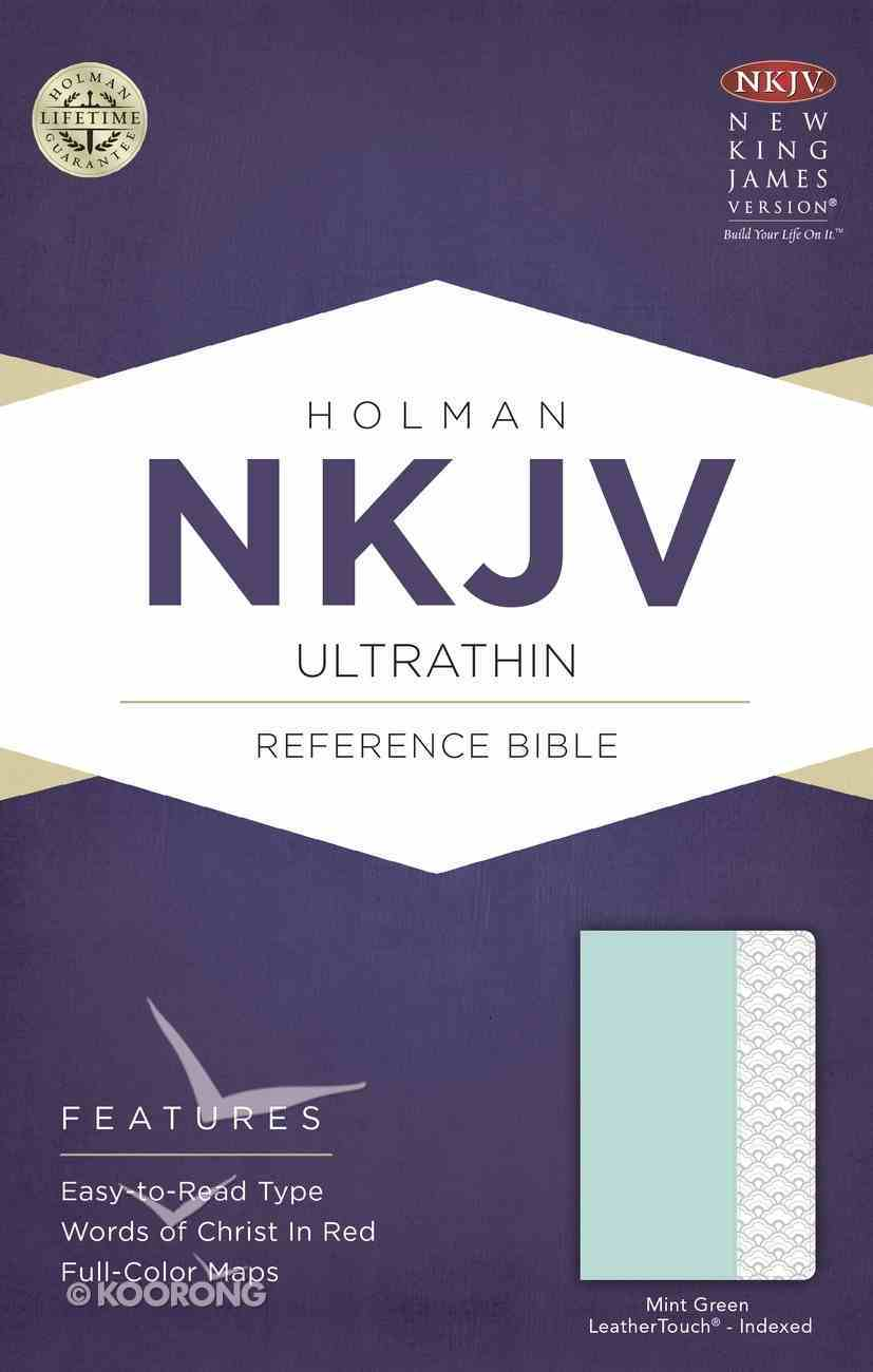 NKJV Ultrathin Reference Indexed Bible Mint Green Imitation Leather