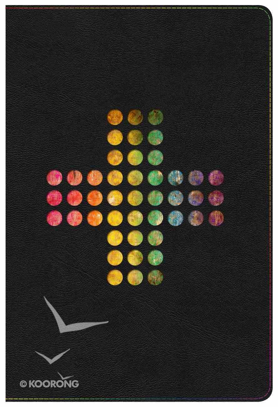 NIV Rainbow Study Bible Pierced Cross Thumb Indexed Imitation Leather