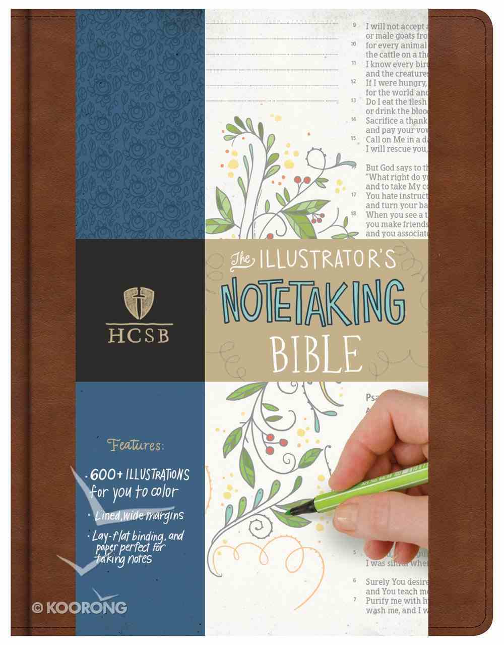 HCSB Illustrator's Notetaking Bible British Tan Bonded Leather