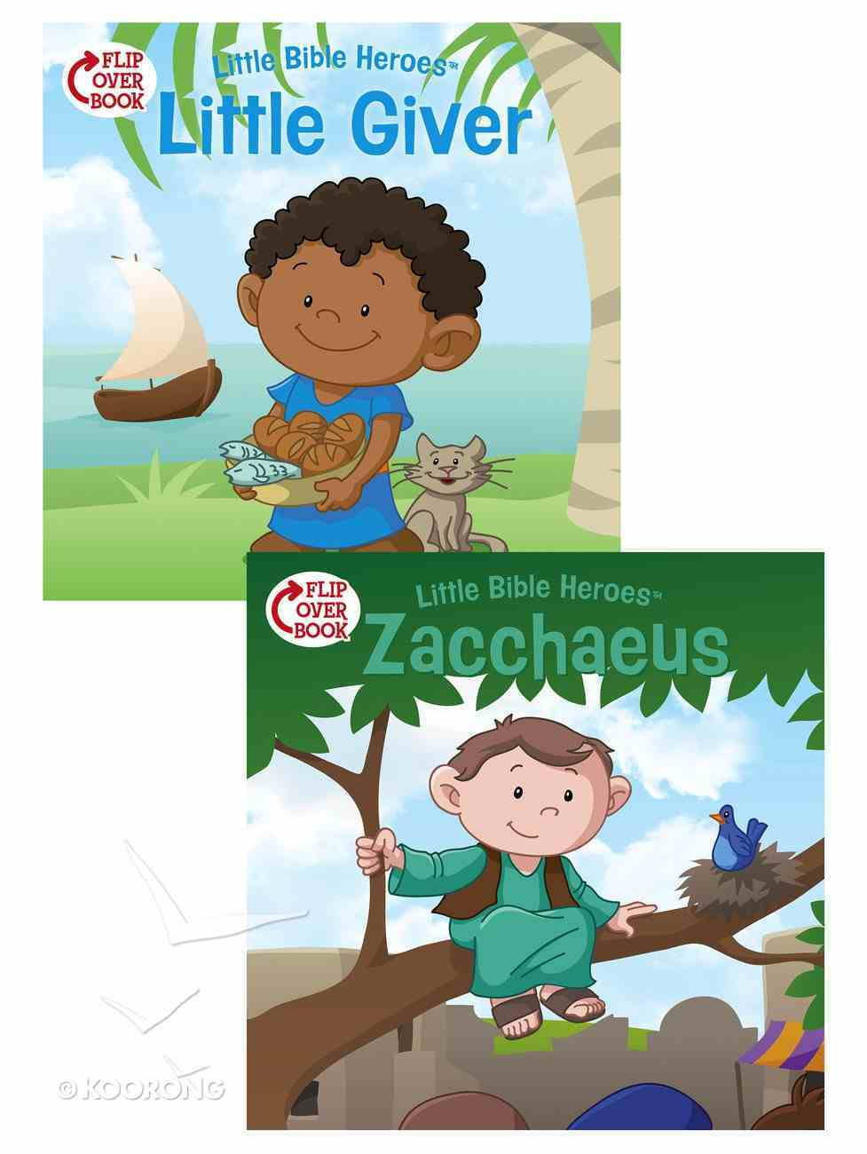 The Little Giver/Zacchaeus Flip-Over Book (Little Bible Heroes Series) Paperback