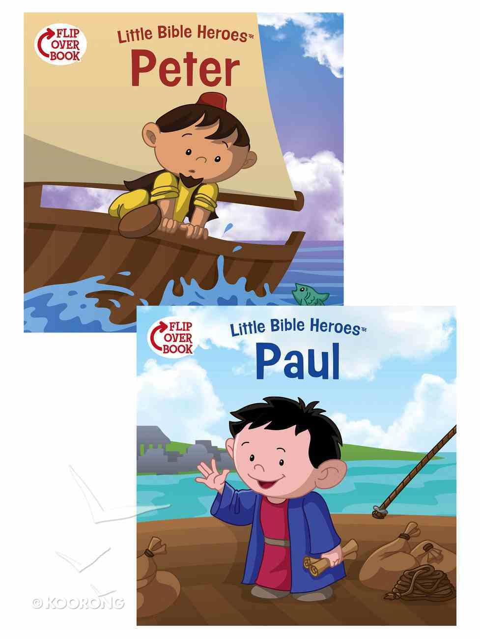 Peter/Paul Flip-Over Book (Little Bible Heroes Series) Paperback