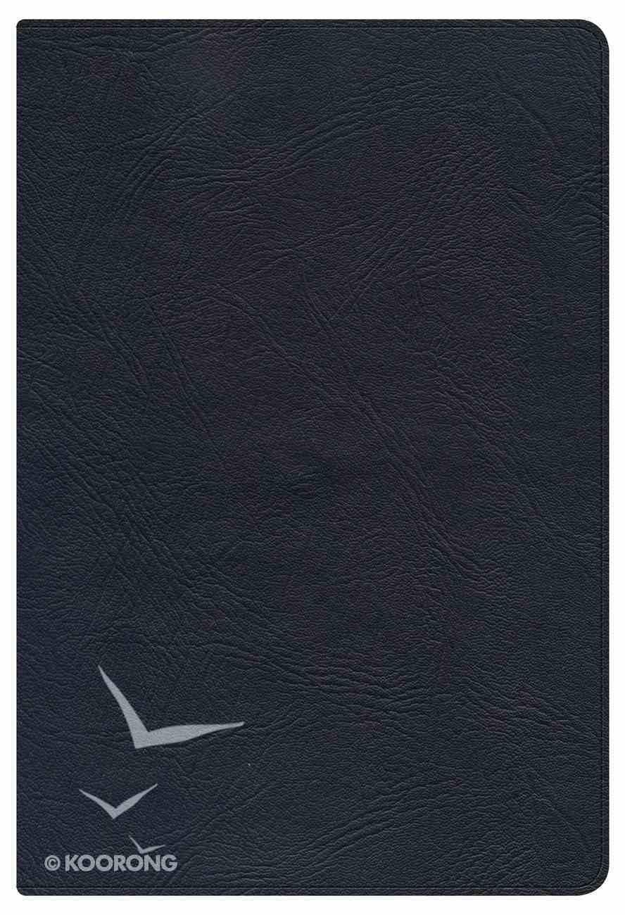NKJV Large Print Personal Size Reference Bible Black Genuine Leather