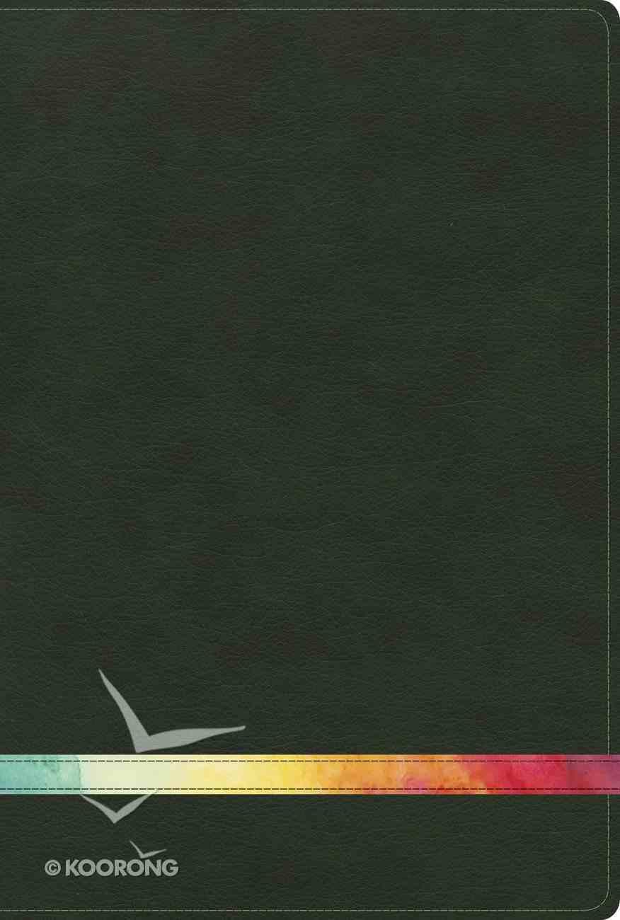 Spanish Rvr 1960 Biblia De Estudio Arco Iris Verde Profundo Multi Smil Piel Imitation Leather