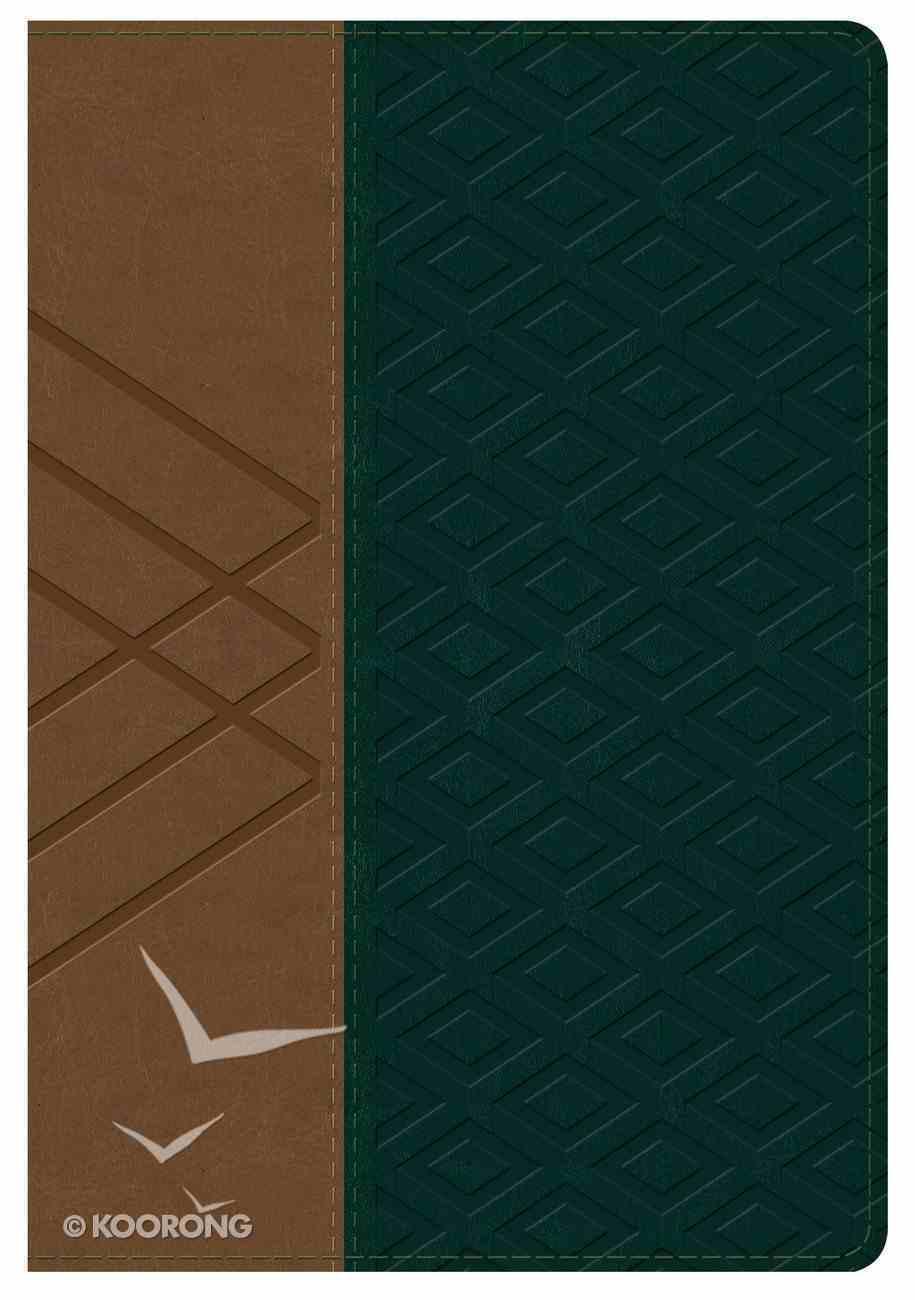 Rvr 1960 Biblia Letra Grande Tamao Manual Habano/Verde Oscuro Smil Piel (Spanish Bible) Genuine Leather