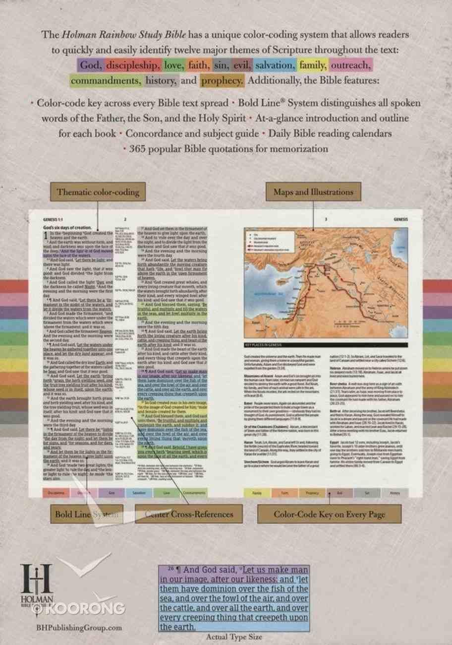 NIV Rainbow Study Bible Maroon Imitation Leather
