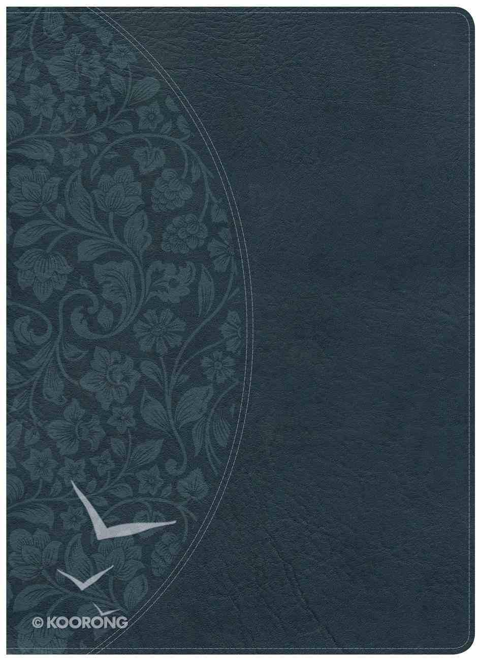 KJV Large Print Study Bible Dark Teal Indexed Imitation Leather