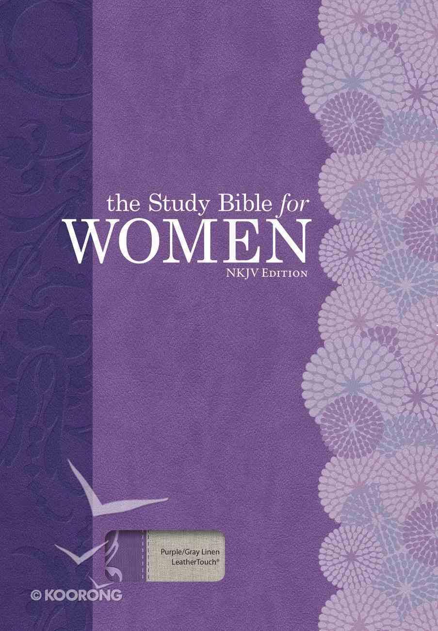 NKJV Study Bible For Women Purple/Gray Linen Imitation Leather