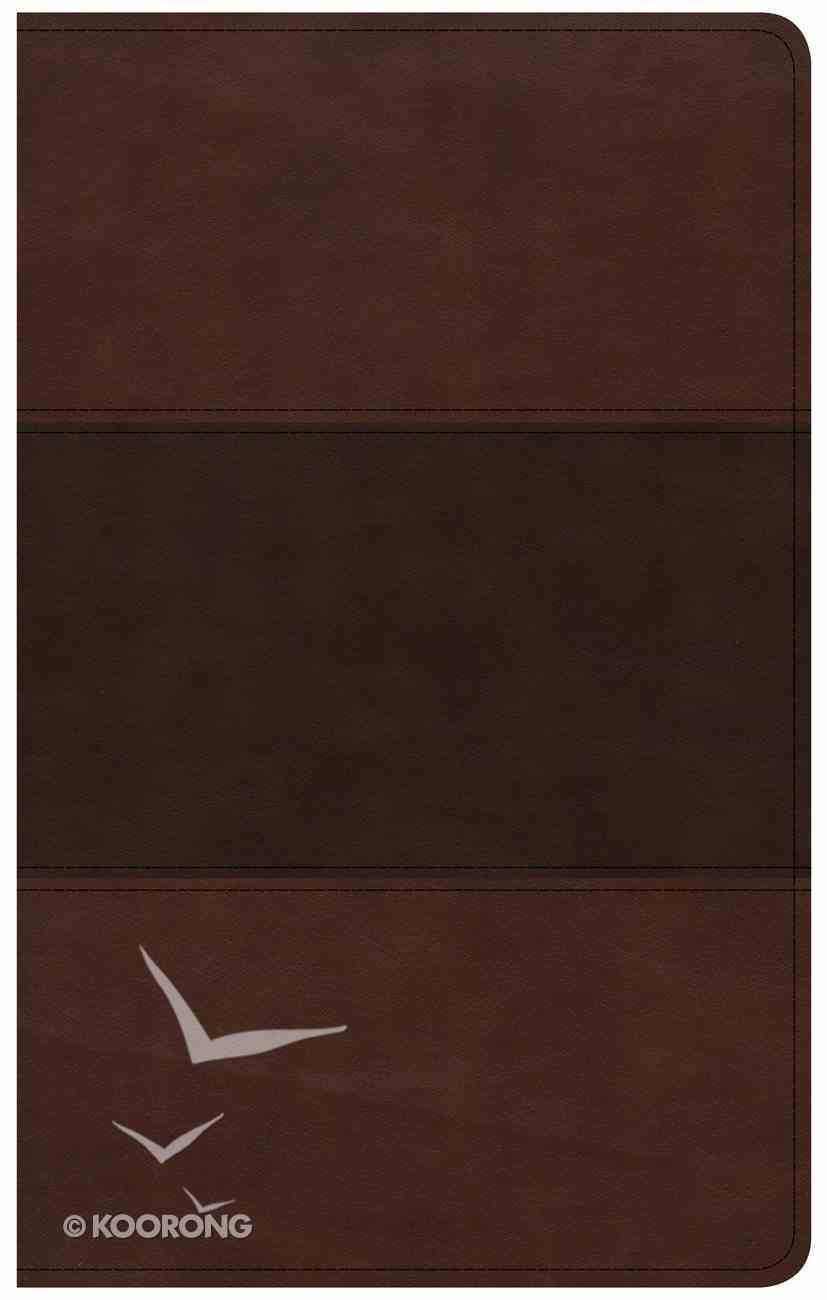 CSB Ultrathin Reference Bible Saddle Brown Indexed Imitation Leather