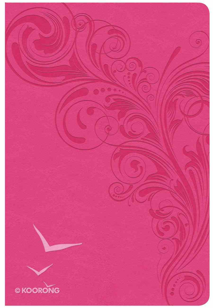 CSB Giant Print Reference Bible Pink Indexed (Red Letter Edition) Imitation Leather
