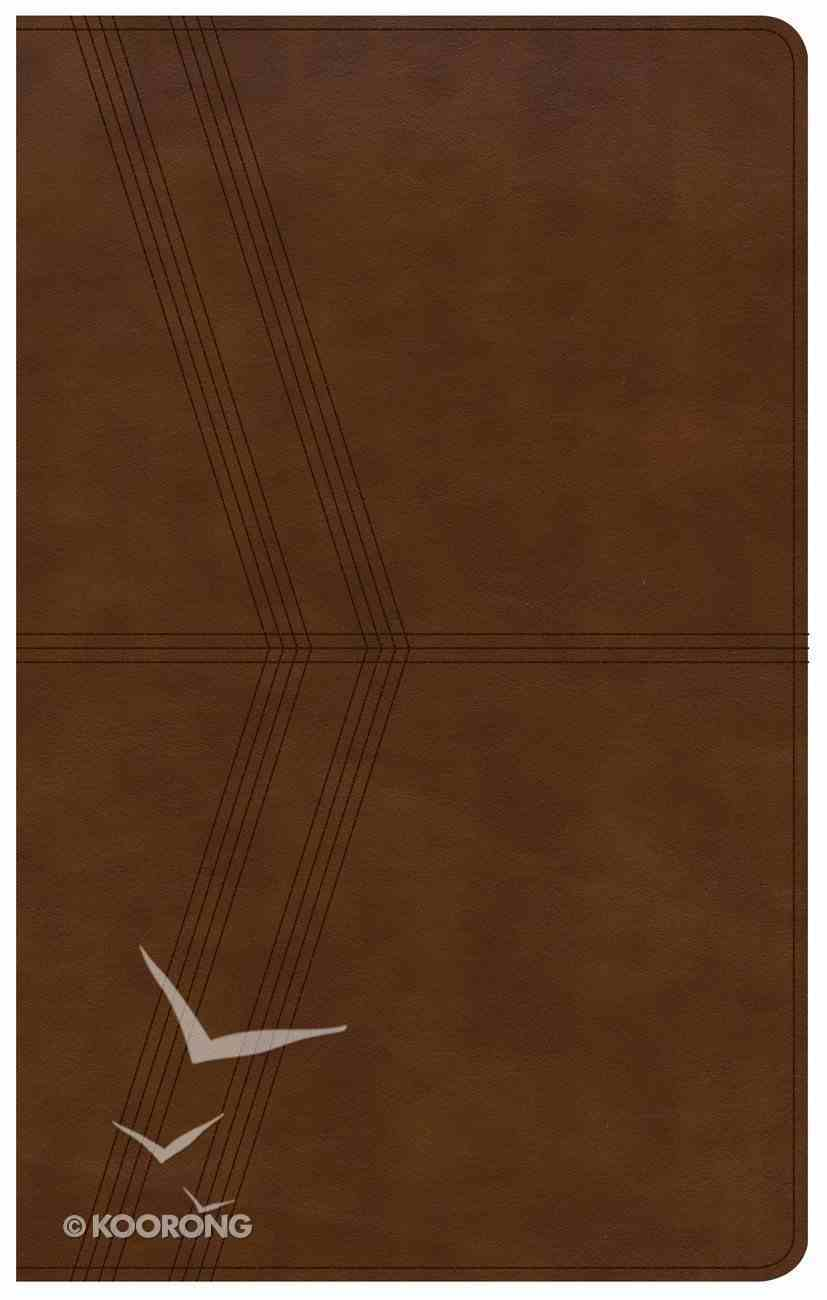 NKJV Ultrathin Reference Bible Brown Deluxe Indexed Premium Imitation Leather