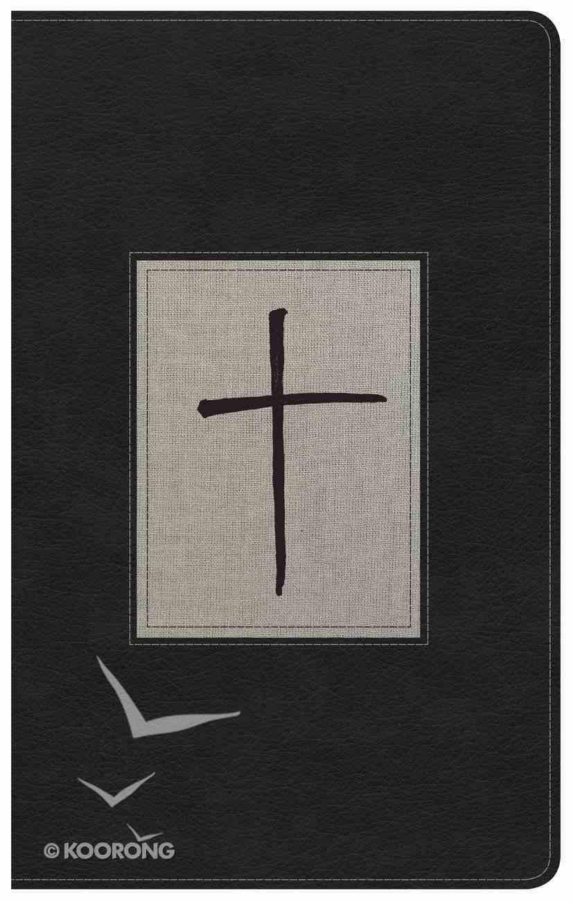 NKJV Ultrathin Reference Bible Black/Gray Deluxe Premium Imitation Leather