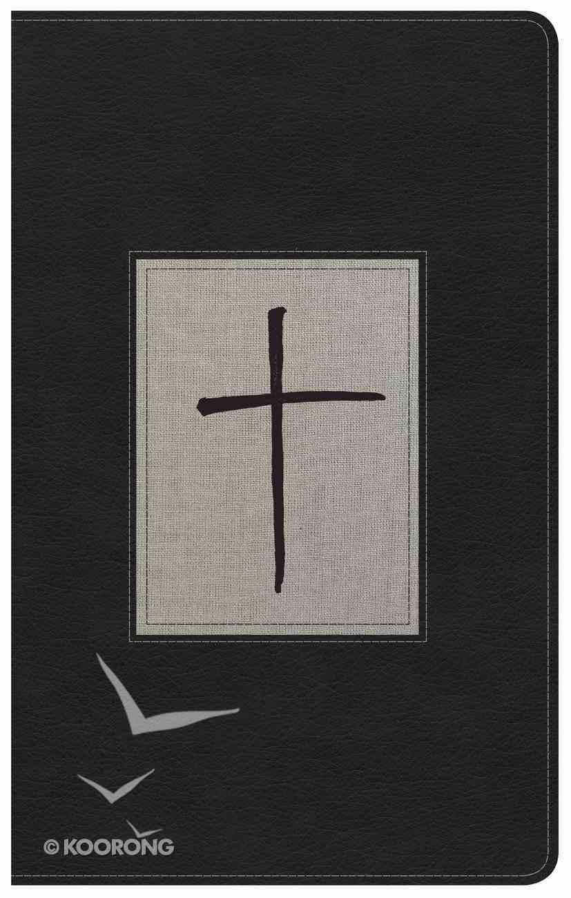 NKJV Ultrathin Reference Bible Black/Gray Deluxe Indexed Premium Imitation Leather
