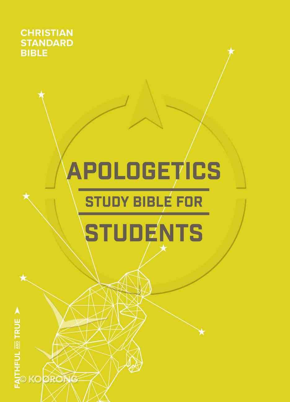 CSB Apologetics Study Bible For Students Indexed Hardback