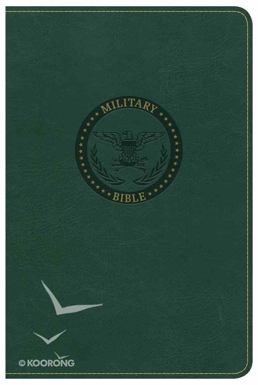 CSB Military Bible Green Imitation Leather
