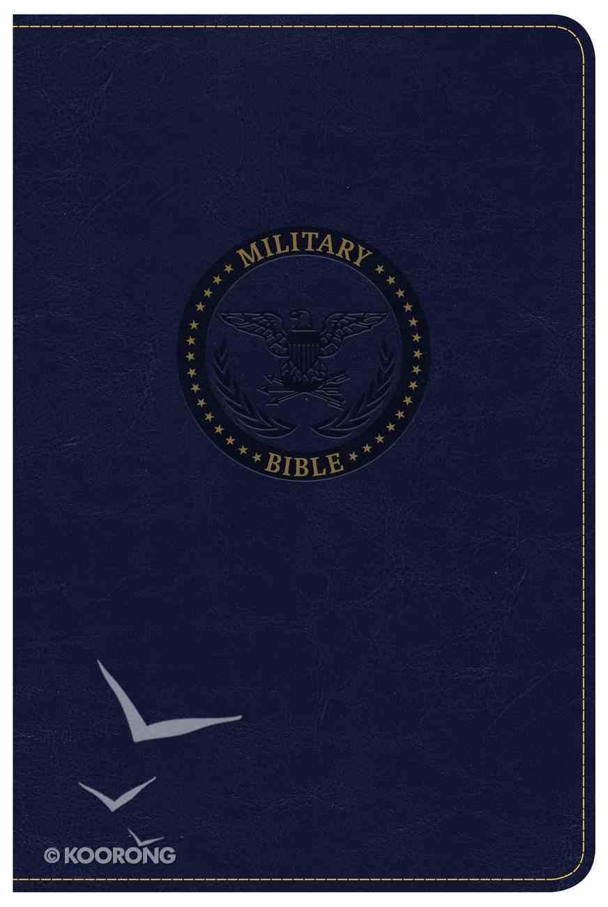 CSB Military Bible Navy Blue Imitation Leather