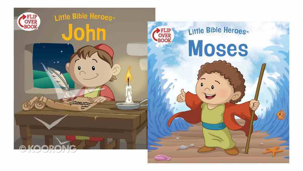 Moses/John Flip-Over Book (Little Bible Heroes Series) Paperback