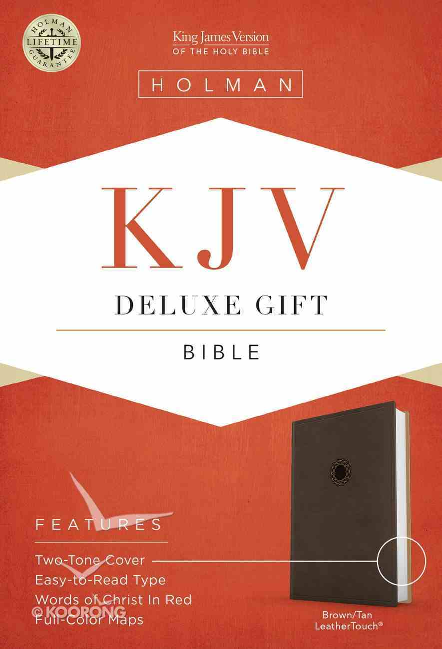 KJV Deluxe Gift Bible Brown Imitation Leather