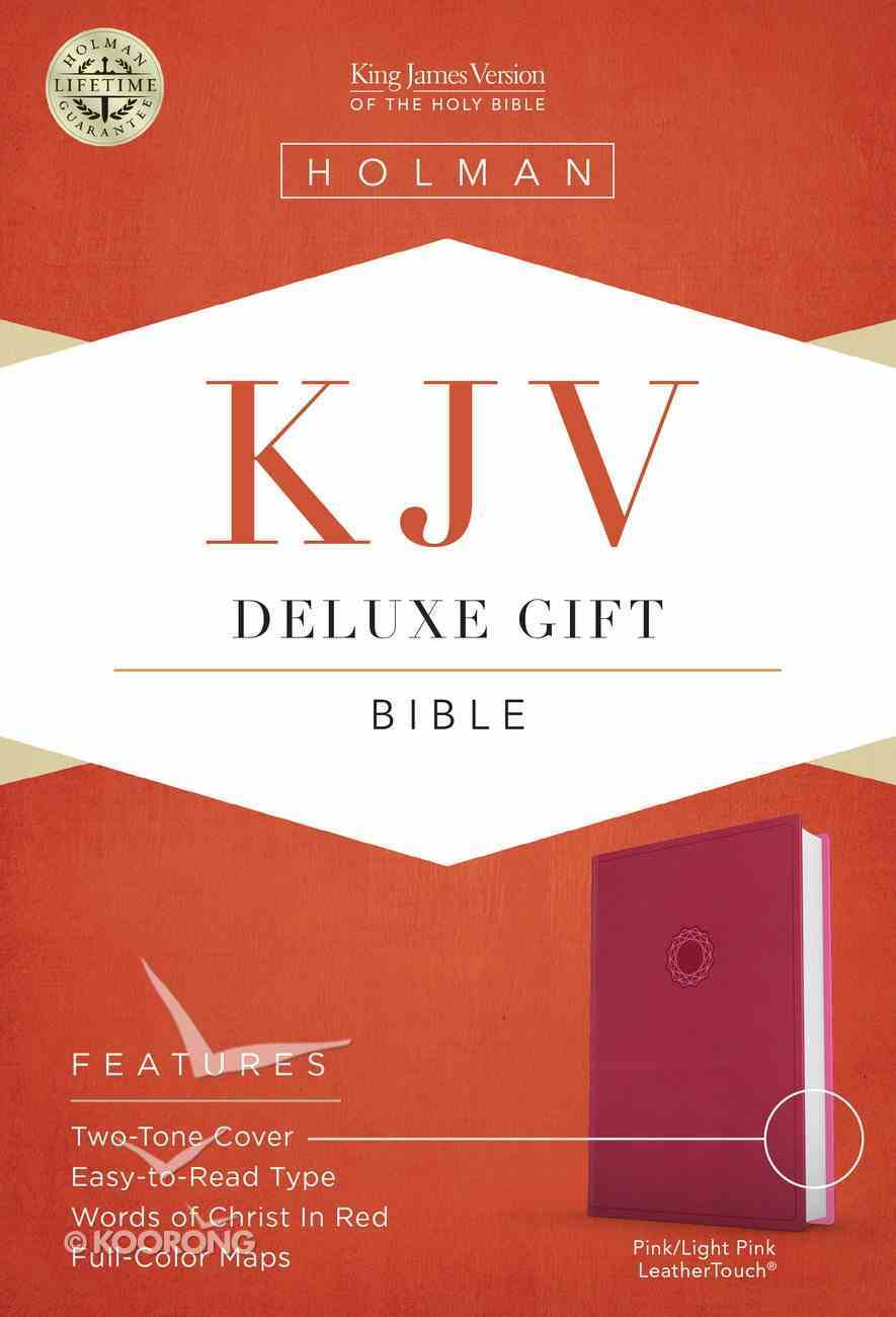 KJV Deluxe Gift Bible Pink Imitation Leather