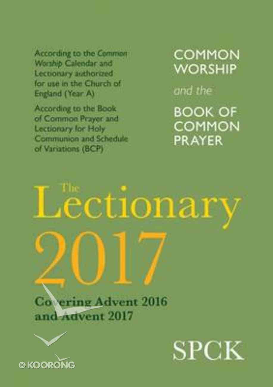 Common Worship Lectionary 2017 Paperback