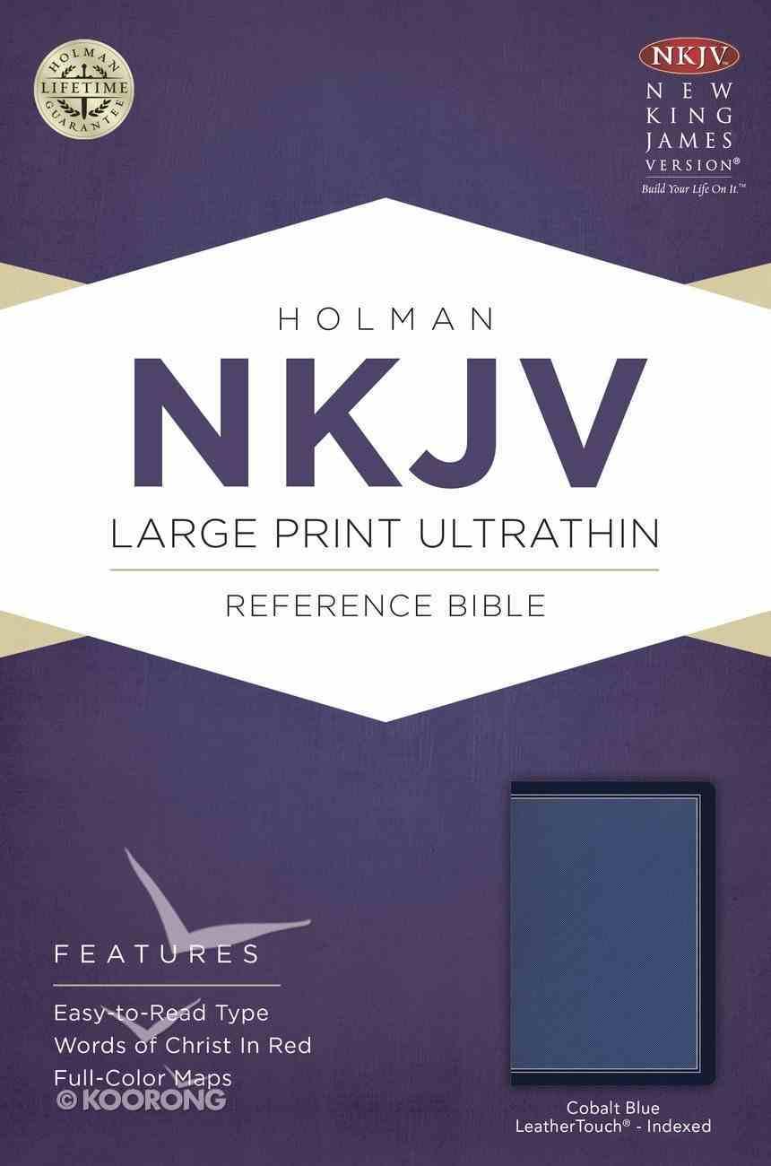 NKJV Large Print Ultrathin Reference Bible Cobalt Indexed (Red Letter Edition) Imitation Leather