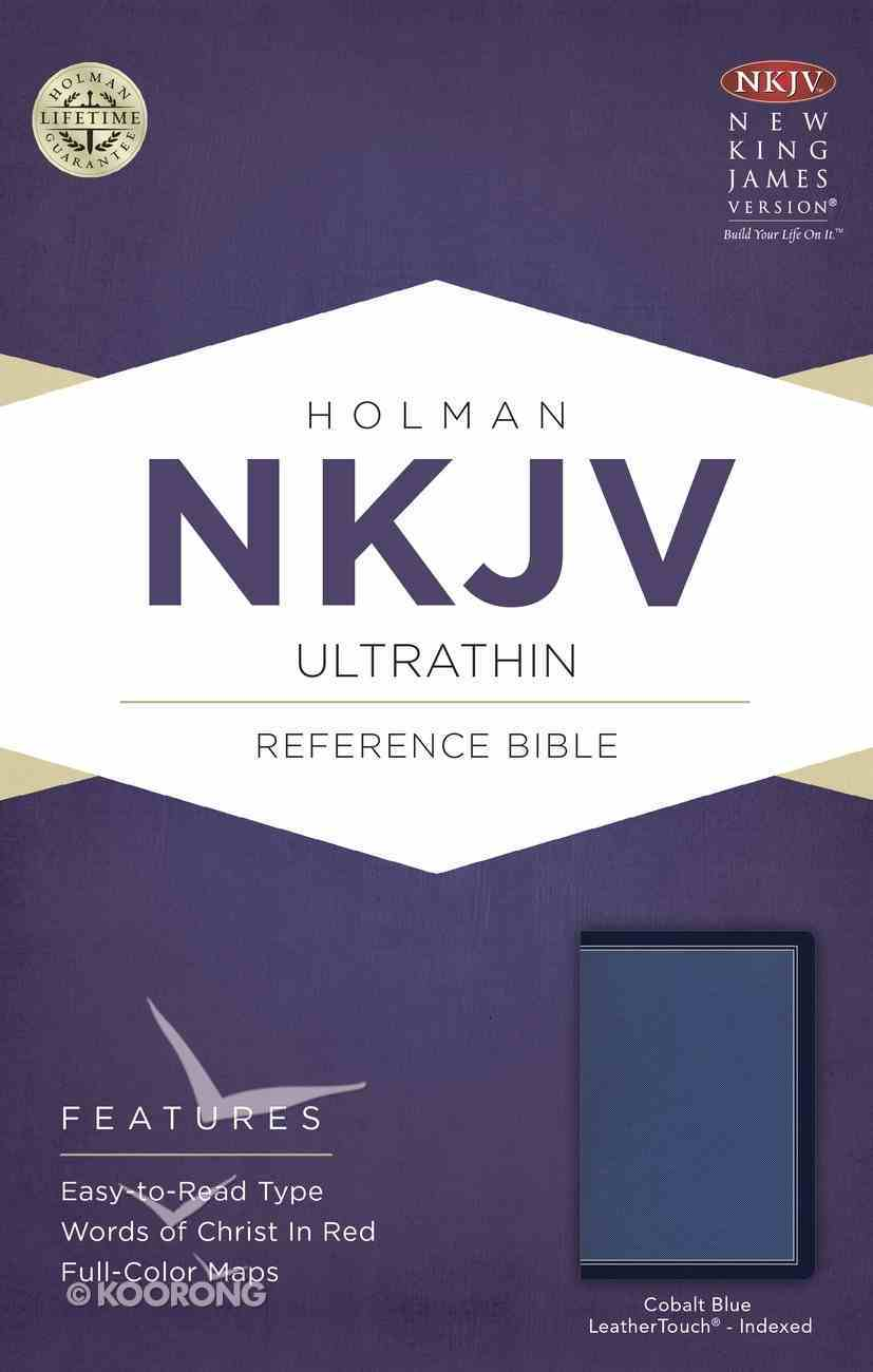 NKJV Ultrathin Reference Indexed Bible Cobalt Blue Imitation Leather