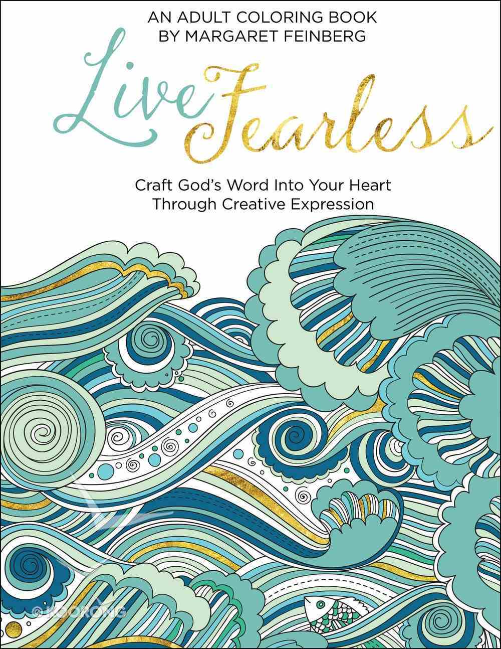 Live Fearless (Adult Coloring Books Series) Paperback