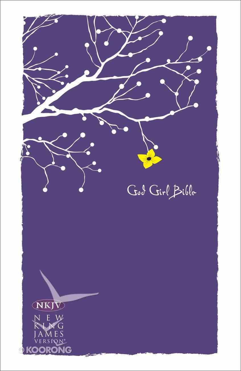 NKJV God Girl Bible White/Purple (Red Letter Edition) Hardback
