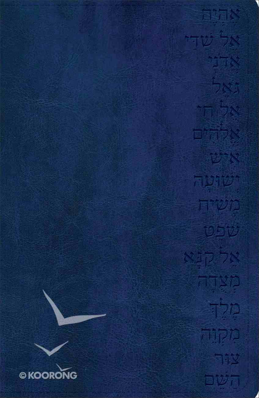 God's Word Names of God Bible Midnight Blue, Hebrew Name Design Duravella Imitation Leather
