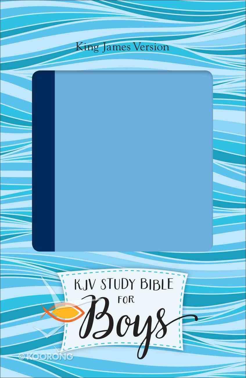 KJV Study Bible For Boys Blue/Light Blue Duravella (Red Letter Edition) Imitation Leather