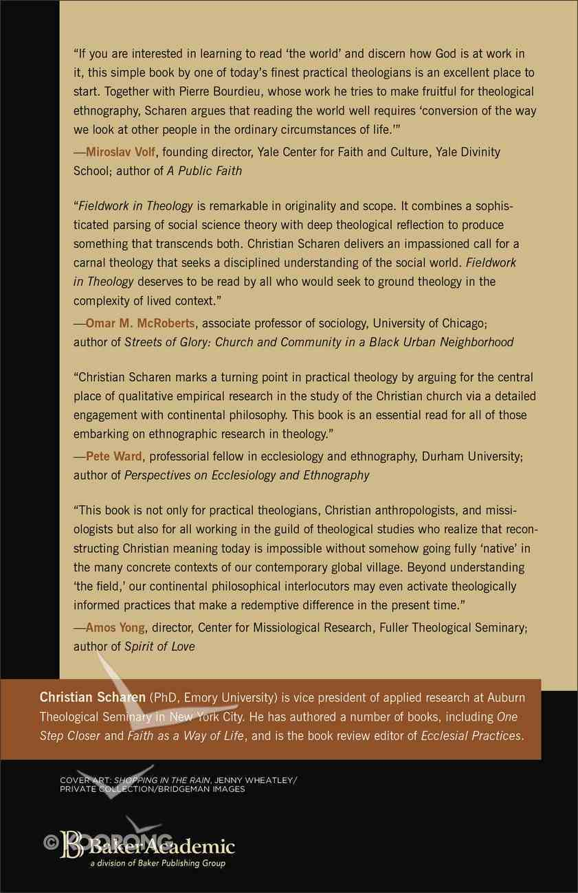 Fieldwork in Theology (Church & Modern Culture Series) Paperback