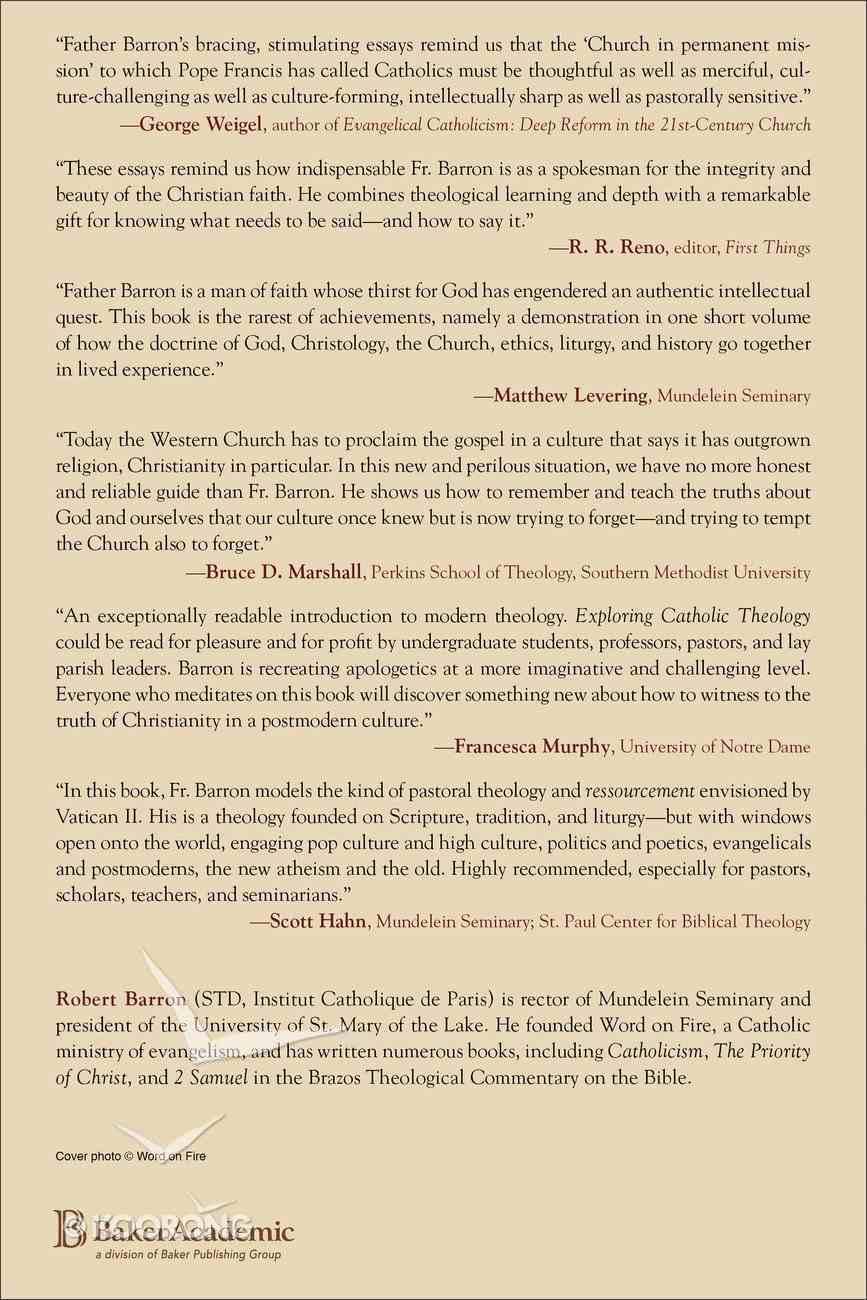 Exploring Catholic Theology: Essays on God, Liturgy, and Evangelization Paperback