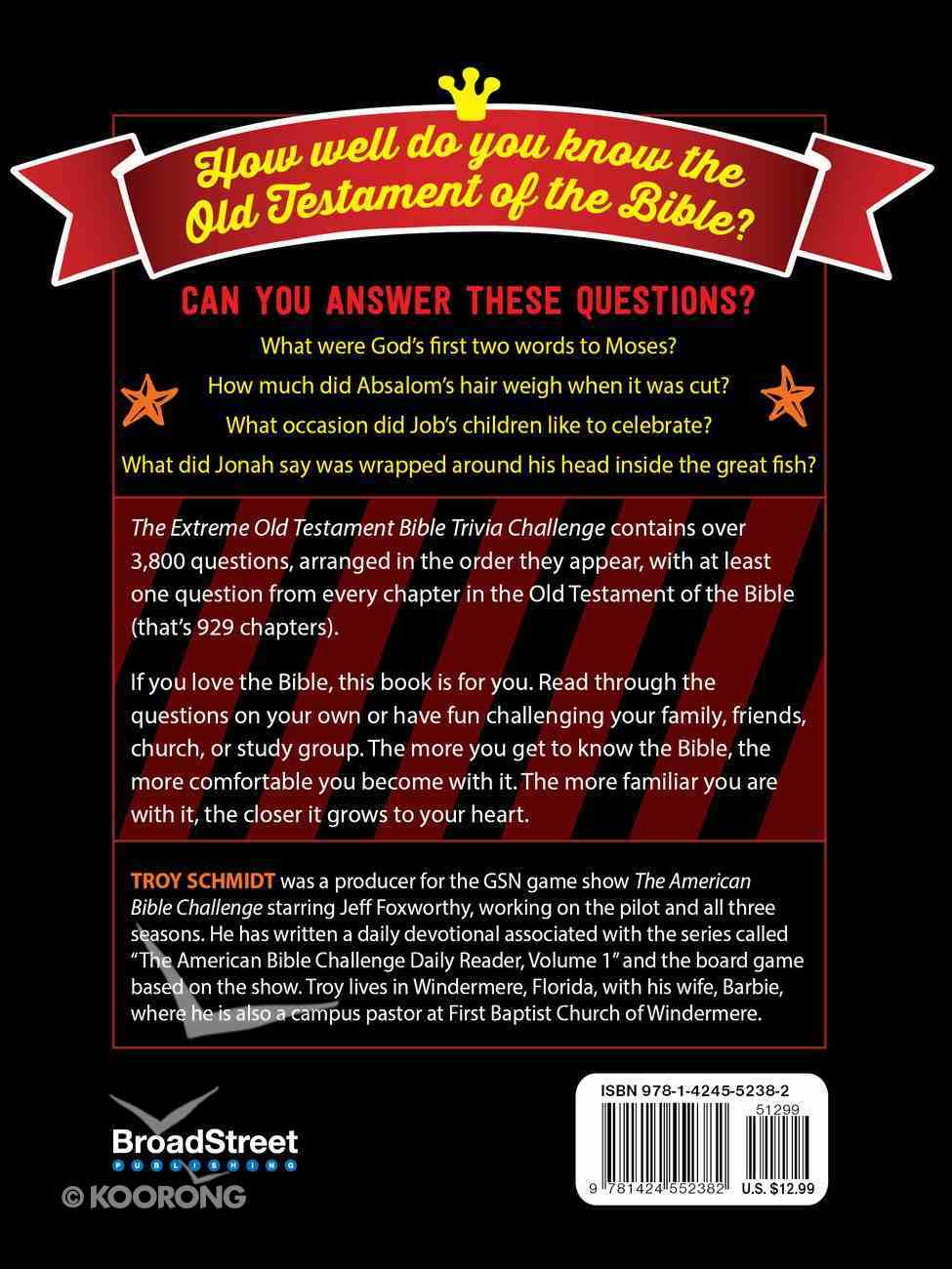 The Extreme Old Testament Bible Trivia Challenge Paperback