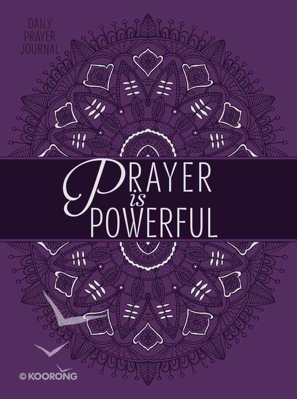 Prayer is Powerful: Prayer Journal Imitation Leather