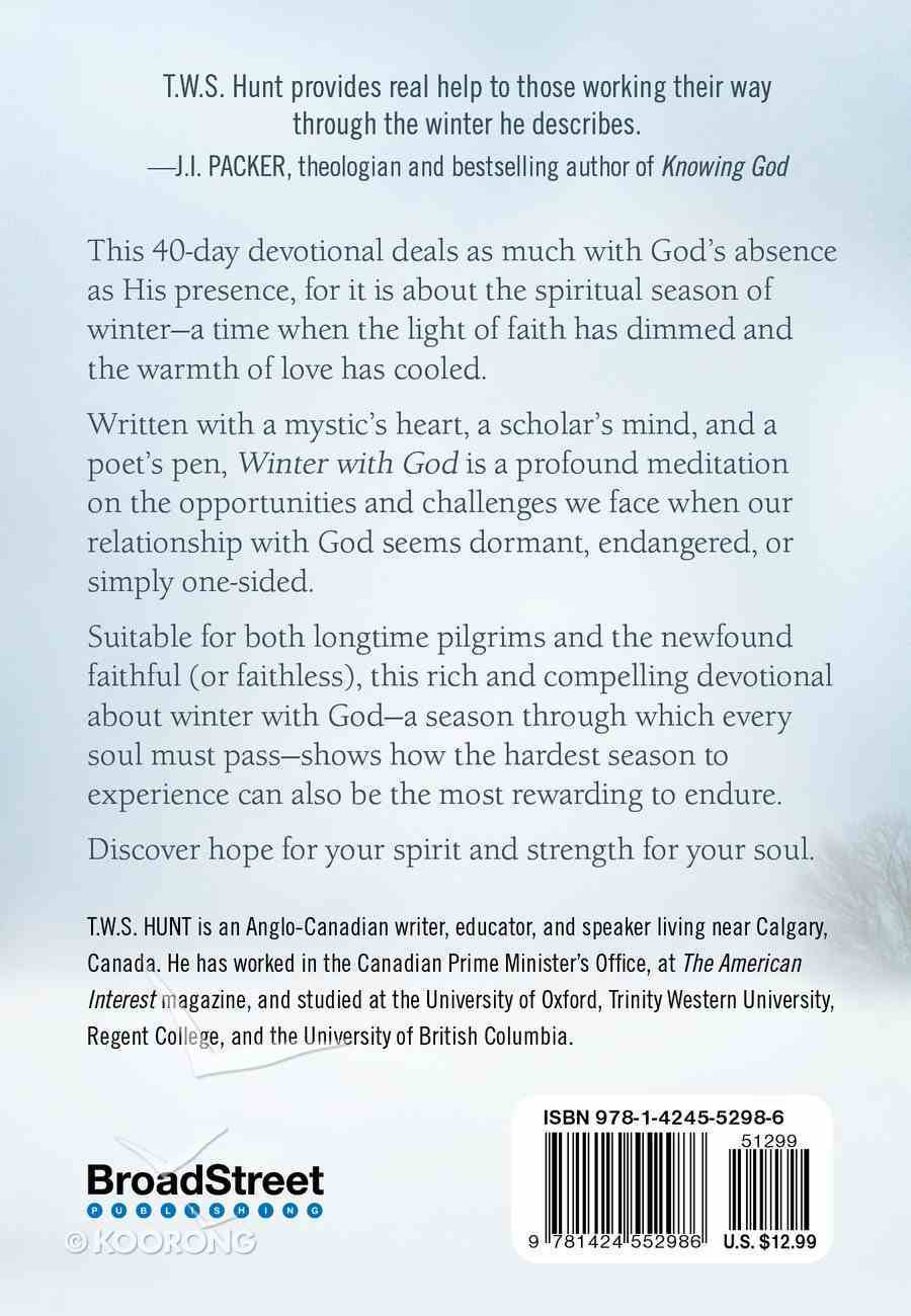 40 Day Devotional: Winter With God Hardback
