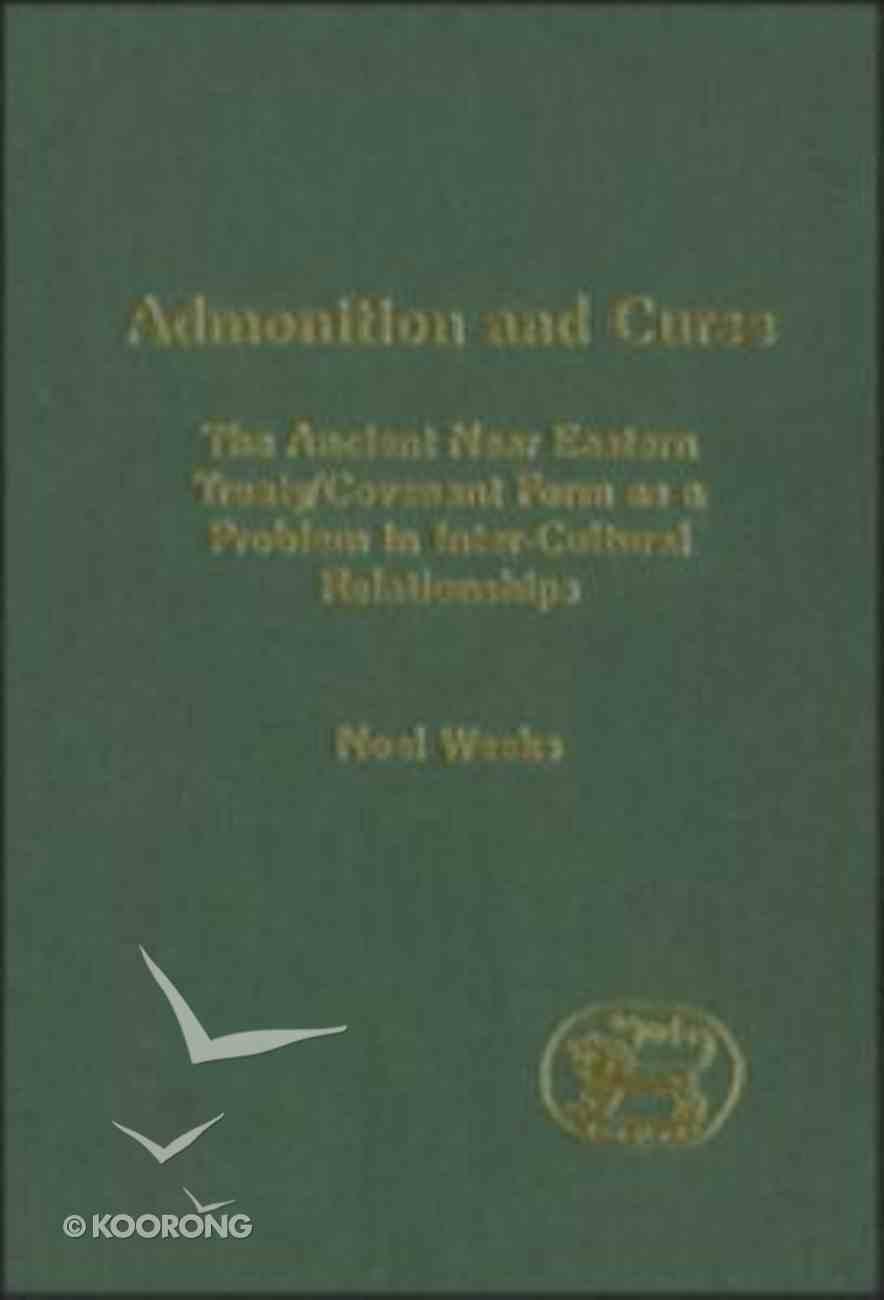 Admonition and Curse Hardback