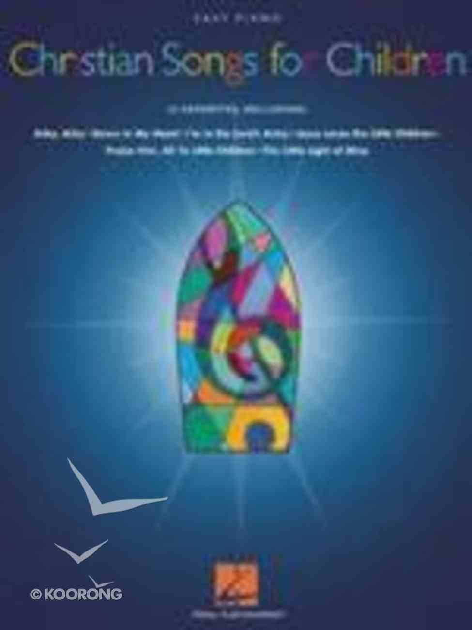 Christian Songs For Children - Easy Piano Paperback
