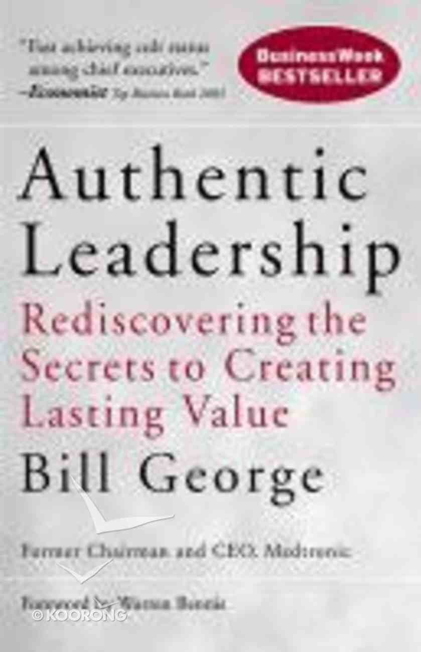 Authentic Leadership Paperback