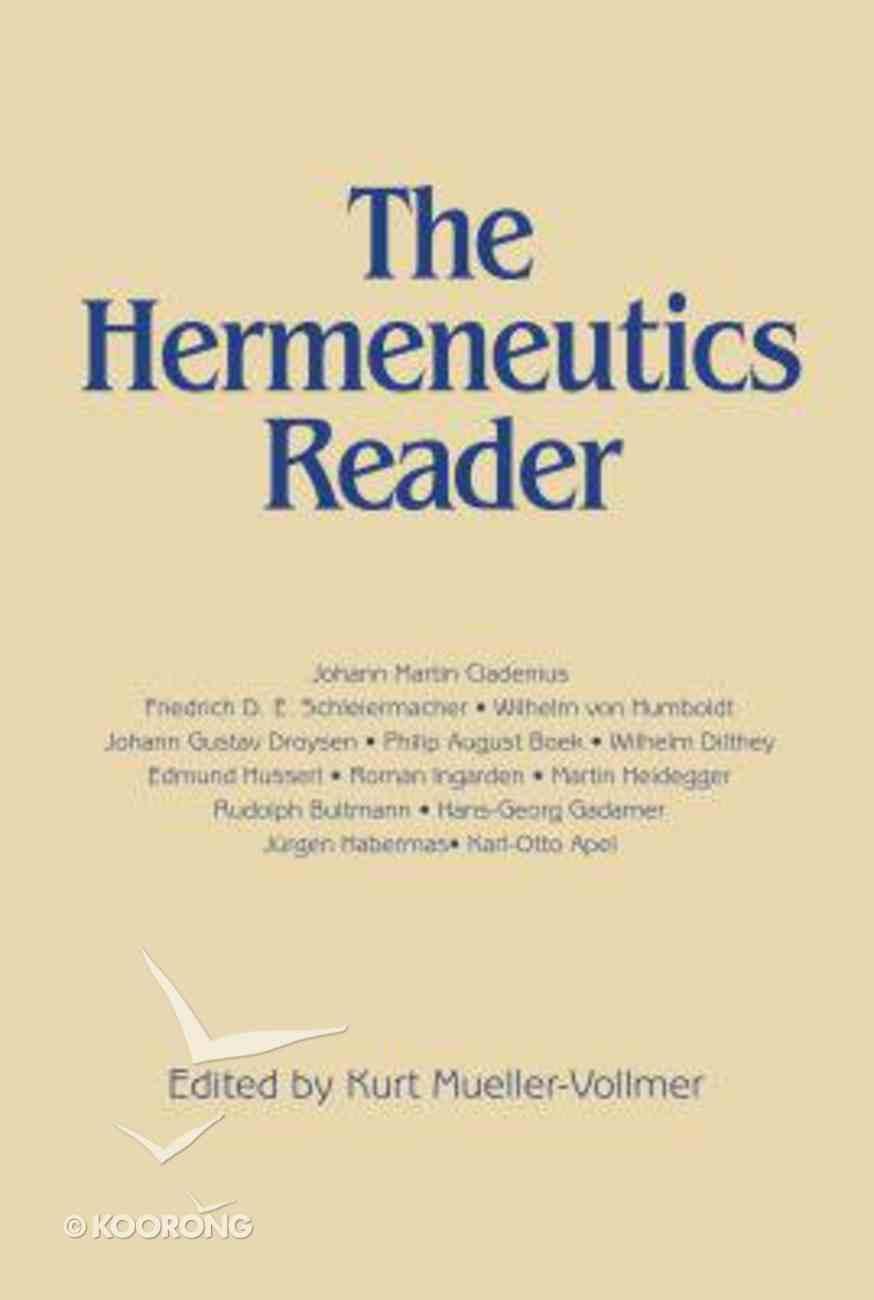 Hermeneutics Reader Paperback