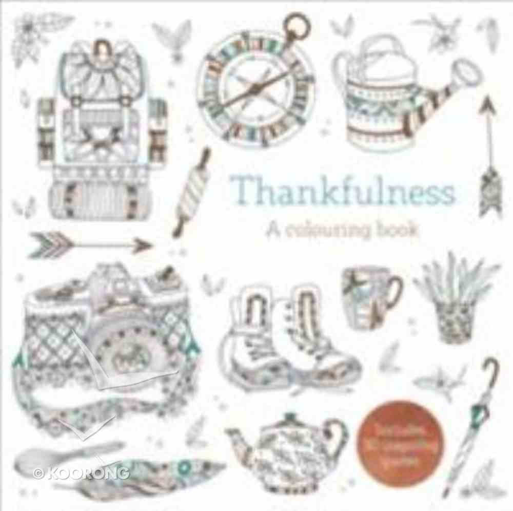Thankfulness (Adult Coloring Books Series) Paperback