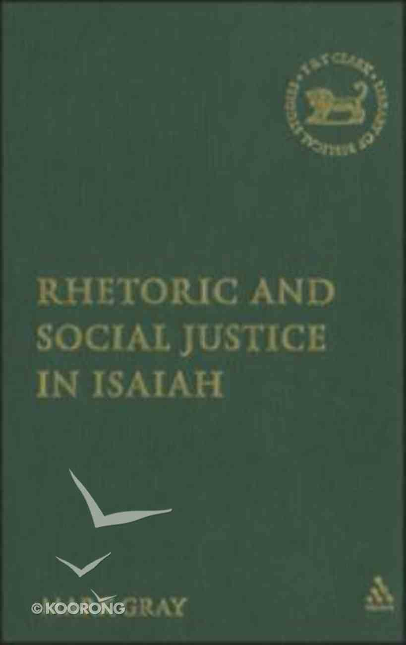 Rhetoric and Social Justice in Isaiah Hardback