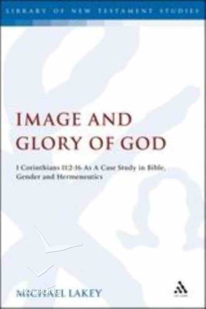 Image and Glory of God (Library Of New Testament Studies Series) Hardback