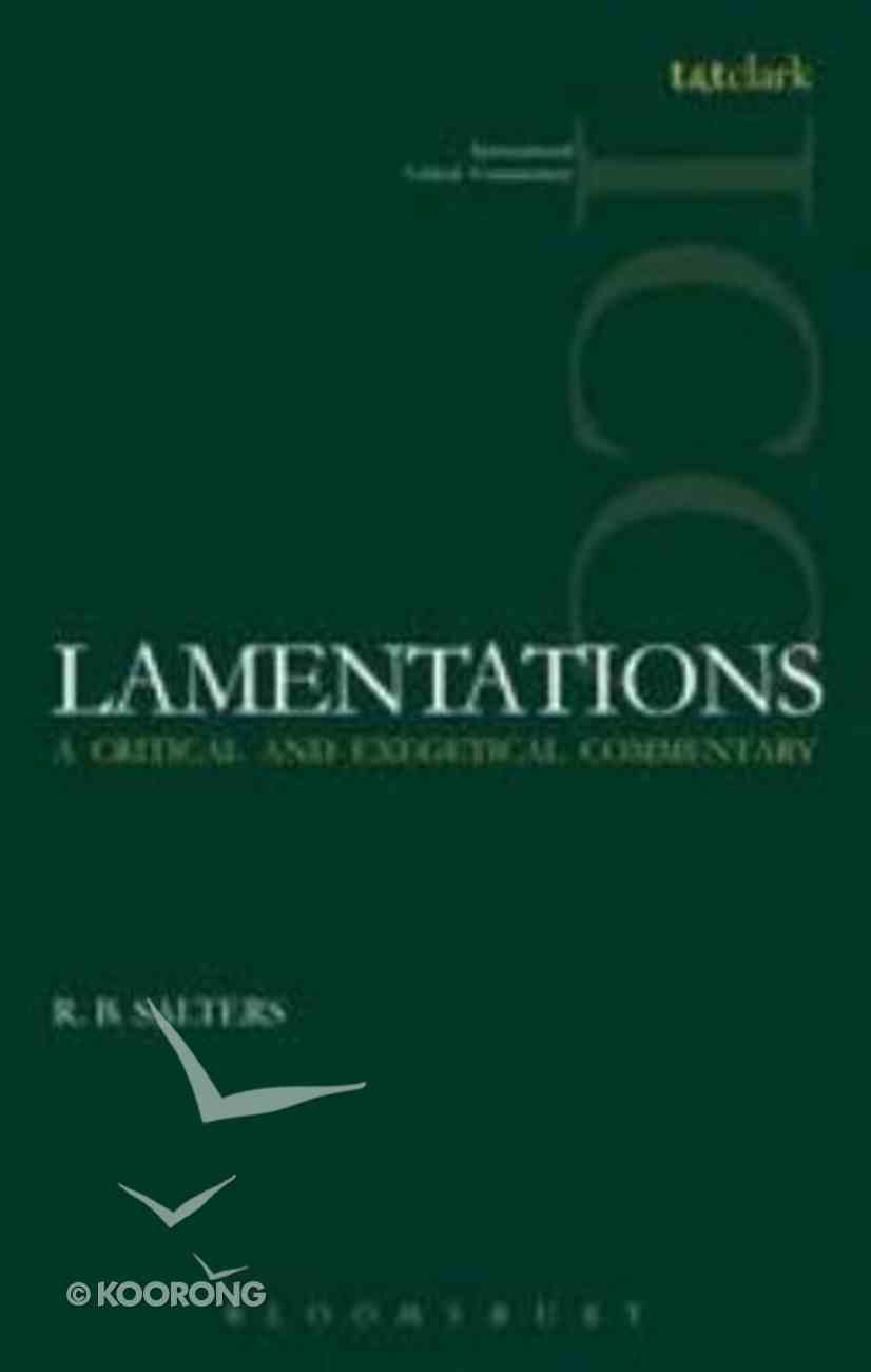 Lamentations (International Critical Commentary Series) Paperback