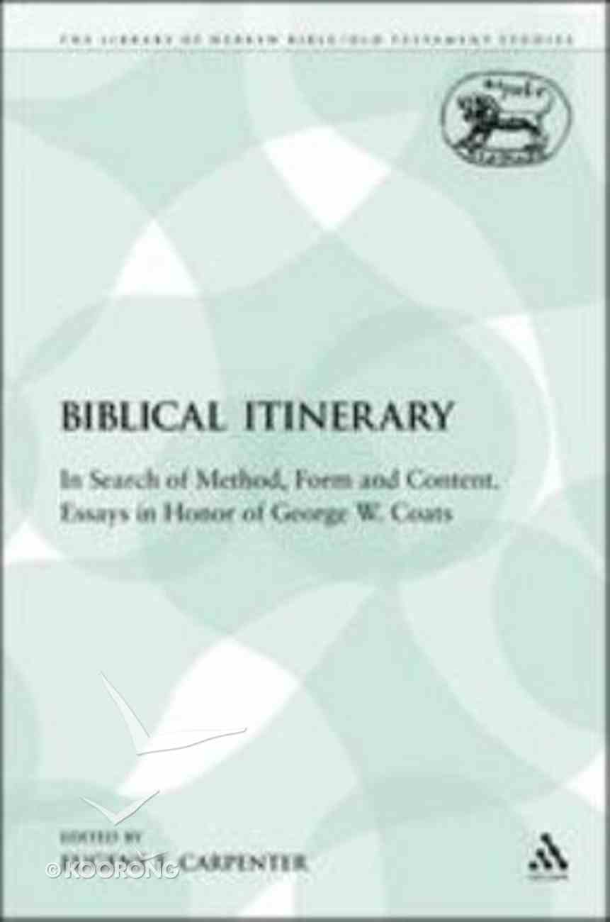 Biblical Itinerary (Library Of Hebrew Bible/old Testament Studies Series) Paperback