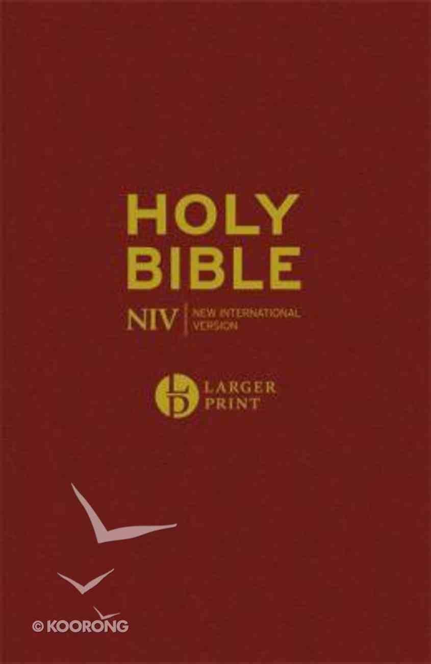 NIV Larger Print Burgundy Bible Hardback