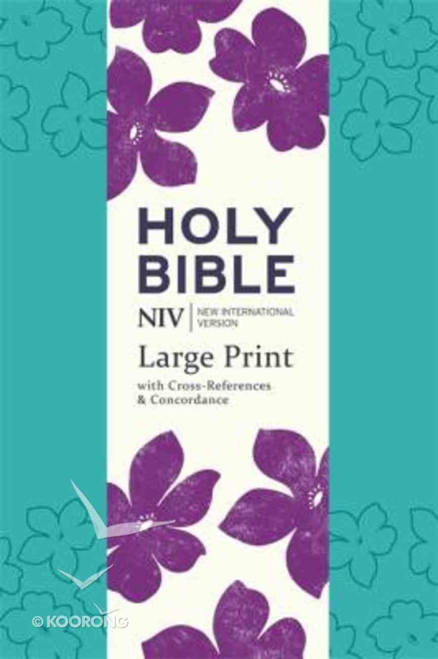 NIV Large Print Single Column Deluxe Reference Bible Paperback