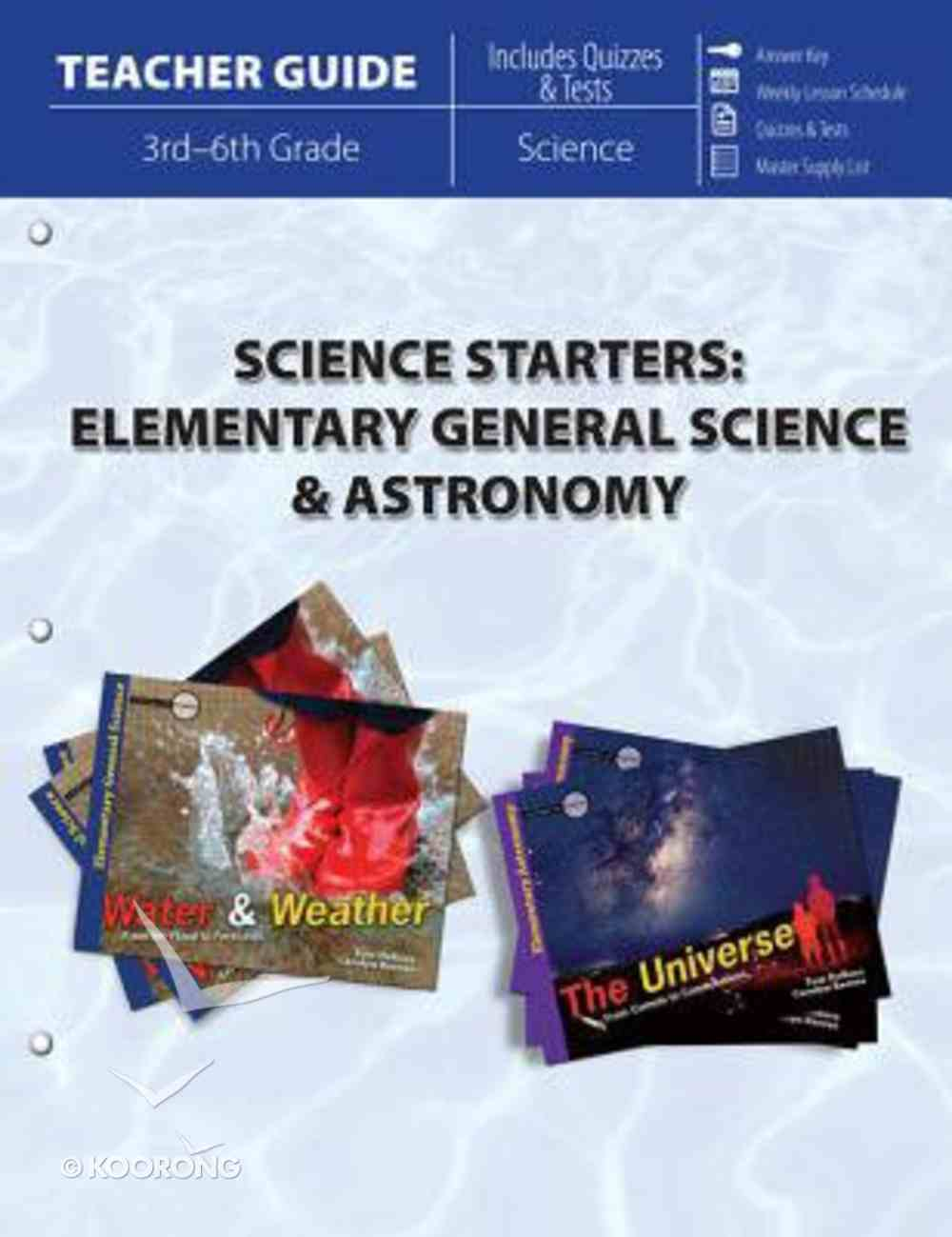 Escs: Science Starters - Elementary General Science & Astronomy (Teacher Guide) Paperback