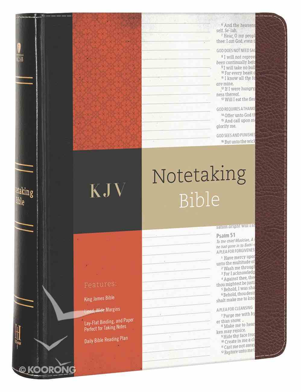 KJV Notetaking Bible Black/Brown Bonded Leather
