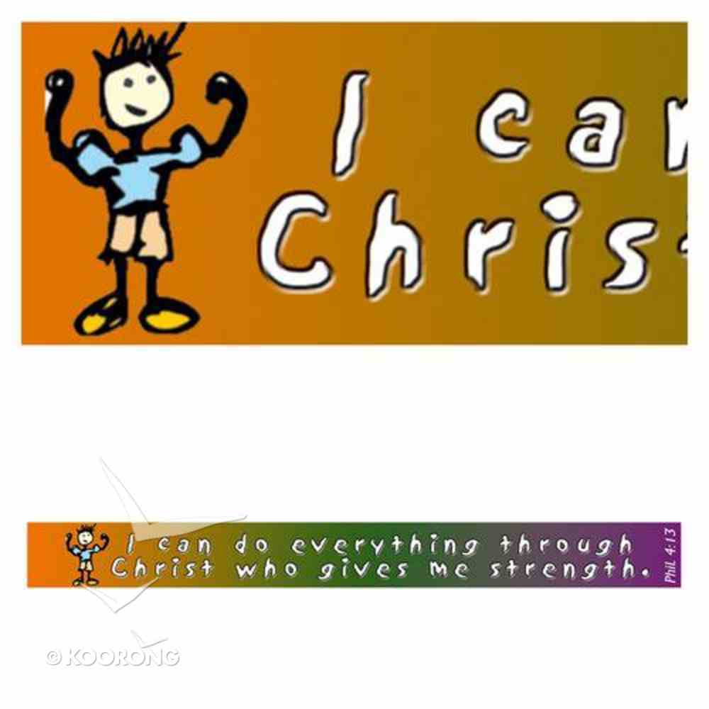 Magnet Strip: I Can Do Everything Through Christ Who Gives Me Strength Novelty