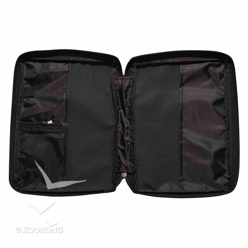 Bible Cover Micro-Fiber Black With Zipped Pocket Medium Bible Cover